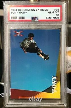 1994 Generation Extreme #95 Tony Hawk Psa 10 Rookie Pop 2 Très Rare