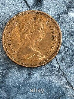 1p 1971 New Pence Rare Coin X 1 Pièce De Collection One Penny Extrêmement Rare