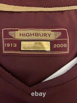2005-06 Arsenal Highbury Home Limited Edition Chemise En Boîte Nike Extrêmement Rare