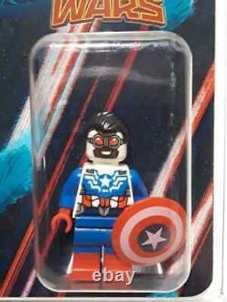 2015 Sdcc Exclusive Lego Captain America Sam Wilson Mini Figure Extrêmement Rare
