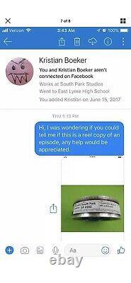 Actual South Park Original Episode Reel Extrêmement Rare