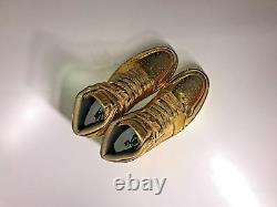 Air Jordan 1, 3,7-, Et 13 Rétro Personnalisé 24k Gold Extrêmement Rare Combo