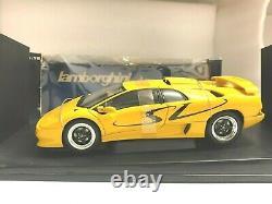 Autoart Lamborghini Diablo Sv Coupe Jaune 1/18 Diecast Aa 70083 Extrêmement Rare