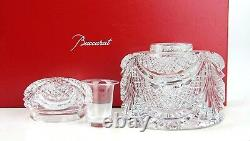 Baccarat Extremely Rare Large Flaubert Inkwell 1764303 Clear Crystal Ltd 300 Nouveau