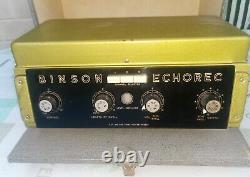 Binson Echorec Exportation Extrêmement Rare Toute Véritable Usine Probablement Jamais Utilisé