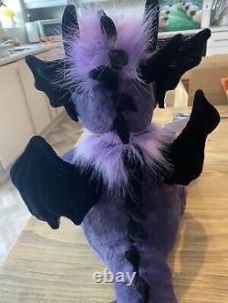 Charlie Bear Scorch Dragon Nouveau Extrêmement Rare Violet Prêt À Poster
