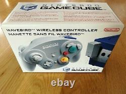 Contrôleur Sans Fil Officiel Nintendo Gc Wavebird Extrêmement Rare (encadré)