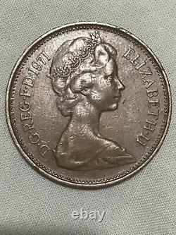 Des Ordures Extrêmement Rares ! Worth 2p! 1971 2p New Pence Coin, Mintage 1 454 856 250