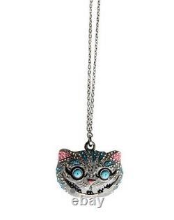 Discontinued Extrêmement Rare Collier Swarovski Alice Au Pays Des Merveilles Cheshire Cat