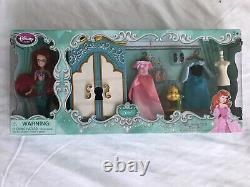Disney Store 2013 Ariel Et Sisters Mini Poupées + 4 Ensembles De Jeu Princess Wardrobe