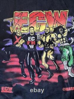Ecw Team Chemise Vintage Extrême Taille Grand Tazz Sabu Nouveau Jack Tommy Rêveur Rare