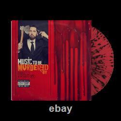 Eminem Music To Be Murdered Par Rare Red Black Splatter 2x Vinyl Lp Mint