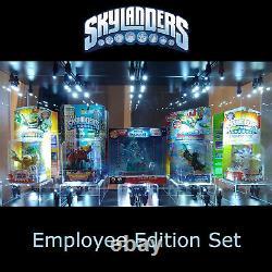 Ensemble Complet De Cinq Skylanders Employee Edition Extrêmement Rare Nouveau Scellé