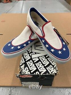 Evel Knievel (formula One) Vans Sneakers Slip-on Taille 11 Extrêmement Ultra Rare