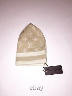 Extrêmement Rare 100% Authentique 2005 Vintage Louis Vuitton Beanie Hat Monogram