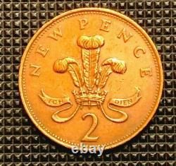 Extrêmement Rare 1971 (2 Nouvelle Pence) Reine Elizabeth II (museum/gem-quality Coin)