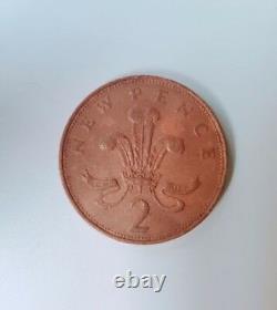 Extrêmement Rare 1971 2p New Pence 2pence Coin Valeur Pièce Royaume-uni 2p Collectors Coin