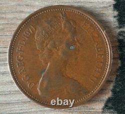 Extrêmement Rare 1971 2p Original Old Coin New Pence 2p Pièce