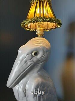Extrêmement Rare Abigail Ahern Limited Edition Ceramic Pelican Lamp, Nuance Originale