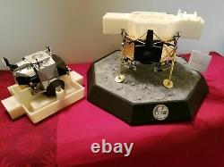Extrêmement Rare Apollo XI Lunar Module Franklin Mint 148 Model Moon 1969