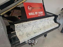 Extrêmement Rare Autographié Piano Signé Par Michael Jackson, Elton John + 38 Plus