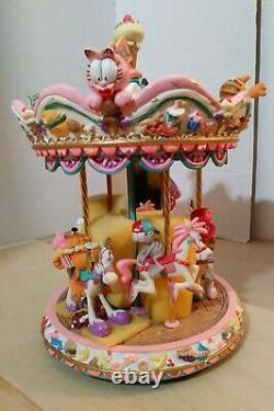 Extrêmement Rare! Garfields Spinning Carrousel Odie Arlene Jim Davis Danbury Menthe