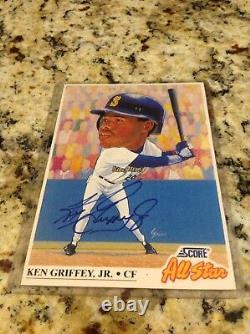 Extrêmement Rare Ken Griffey Jr. Jumbo Score Allstar Certifié Auto. Ebay 1/1