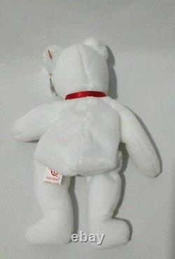 Extrêmement Rare! Mwmt Valentino 1993 Ty Inc Beanie Baby W 2 Swing Tag Errors Pvc