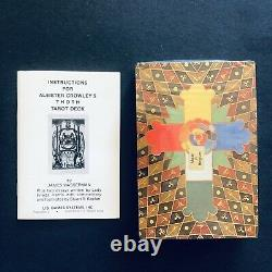 Extrêmement Rare New Vintage 1983 Aleister Crowley Thoth Tarot Cards Complete Box
