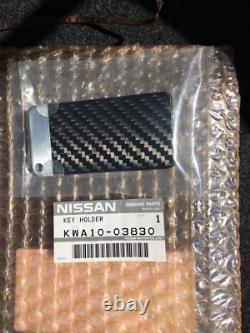 Extrêmement Rare Nissan R35 Gtr Spec-v Oem Véritable Cas Clé En Fibre De Carbone Sèche