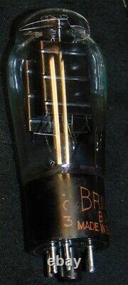 Extrêmement Rare Nos Gz32 Brimar Angleterre Tube Giant Black Plates Gz34 5v4g Forte