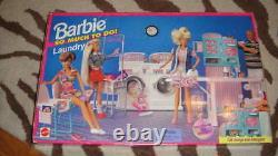 Extrêmement Rare Nouvelle Nib Barbie Tellement À Faire Tapis À Linge