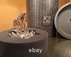 Extrêmement Rare Swarovski Gold Butterfly 7551nr100 Menthe Dans La Boîte