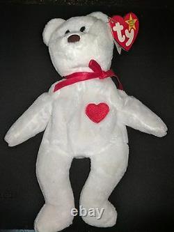 Extrêmement Rare! Valentino 1993 Beanie Baby Babies Misprint Swing Tag Erreurs Pvc