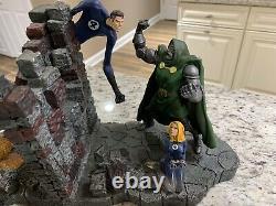 Fantastic Four Vs Dr. Doom Bookends Marvel Diamond Select 2003 Extrêmement Rare