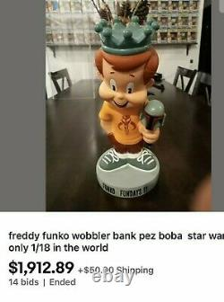 Funko Freddy Bank Boba Pez Sdcc 2011 1/18 Only In World With Factory Box