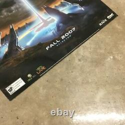 Halo 3 Extrêmement Rare Embossed Promo Poster Xbox New Condition Master Chief