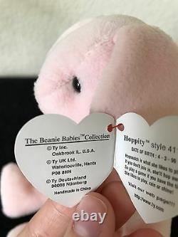 Hoppity Ty Beanie Baby-rarissime Erreurs-mwmt-graal Pour Collectionneurs