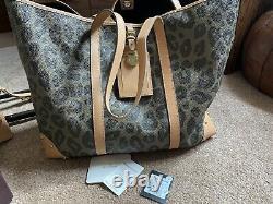 Mulberry Black & Birds Nest Leopard Travel Tote Bag Extremely Rare Nouveau