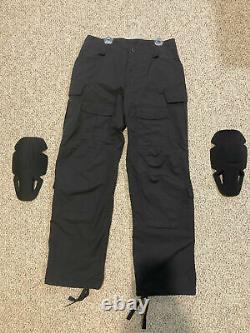 Nouveau Extrêmement Rare 36 L Crye Precision All Weather Black Field Pants + Kneepads