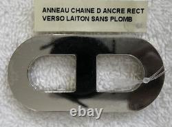 Nouveau Hermes Anneau Chaine D'ancre Bague Foulard Jaune Et Or Blanc Extrêmement Rare