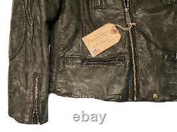 Nouveau Très Rare Ralph Lauren Denim Supply Polo Rrl Tiger Motorcycle Jacket XL