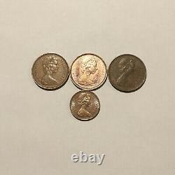 Nouvelle Pence 2 1971 (x3) Et Nouvelle Pence 1 1971 (x1) Extrêmement Rare