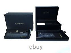Nouvelles Lunettes De Soleil Linda Farrow 24k Gold Blue Unisex Extrêmement Rare! Pdsf 949 $