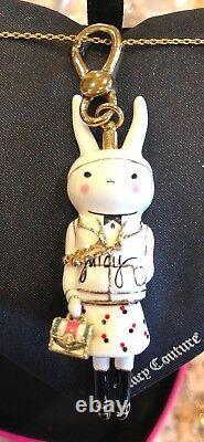 Nwot Juicy Couture Fifi Lapin Bunny 2012 Ltd Ed Pendentif Charm. Extrêmement Rare