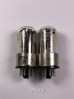 Paire Assortie Extrêmement Rare 1578 6n8s Audiophile 6h8s 6sn7 Base Métallique