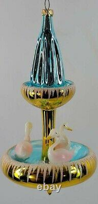 Radko Italien Swan Fountaine 94-278-0 Extrêmement Rare Or Version Sr Échantillon