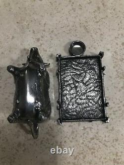 Rare Extremely Pierre Deux Pewter Crem Creamer Intricate Seulement Sur Ebay