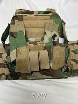 Rare Extremely Velocity Mayflower Apc Woodland M81 L/xl Plate Carrier Plaque Gp