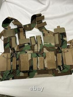 Rare Extremely Velocity Systems Mayflower Uw Gen IV Chest Rig Woodland Camo M81